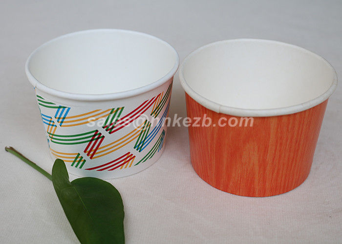 Multi Size Ice Cream Paper Cups With Lids , Disposable Ice Cream Bowls