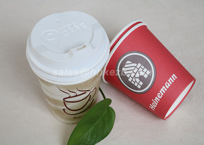 500ML Printed Recyclable Single Wall Paper Cups Cutomized Logo For Hot Drinking