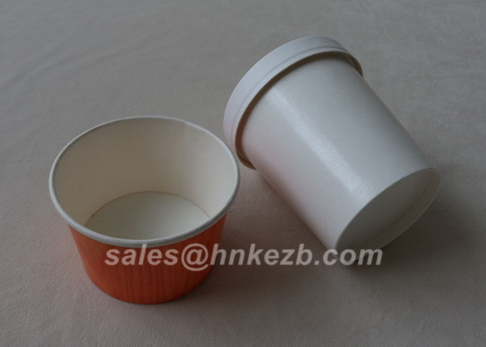 Custom Printed Disposable Paper Ice Cream Containers 5oz 150ML With Paper Dome Lids