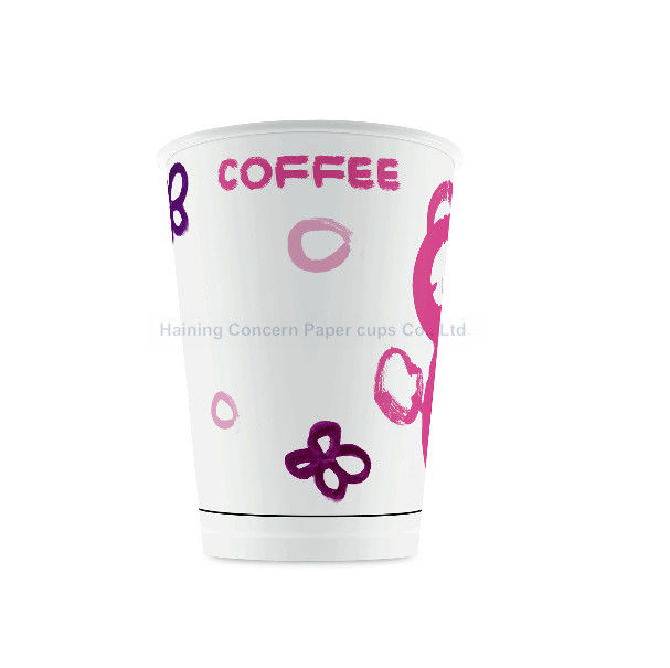 Custom Printing PLA Paper Cups 12oz Biodegradable Small Disposable Cups For Hot Drinks
